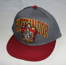 Harry Potter Gryffindor House Embroidered Flat Peak Cap Youth One Size New