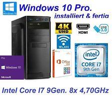 Office Komplett PC System Intel i7 9700K 8x 4,70GHz 16GB RAM 250GB SSD Win  01