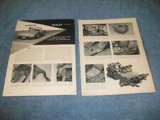 "1955 Austin Healey 100 Chevy V8 How To Tech Info Article ""Haulin' Healey"""