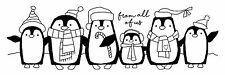 Woodware clair Singles Magic Stamp NOËL 2017-Penguin Parade FRS354