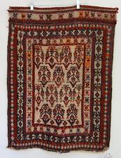 Antique Soumak Turkish Rug Wall Hanging Handmade Woven Tribal Old Vintage