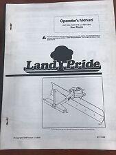 Landpride Owners Manual Rbt1560 Rtb1572 Rtb1584 Rear Blades Used301 144m