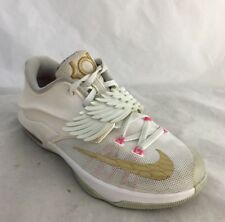 Nike Kd 7 Youth Boys 4 4Y Kevin Durant Aunt Pearl Cancer Shoes Angel Wings