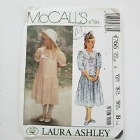 McCall's 4766 Sewing Pattern Laura Ashley Girl's Child's Dress Size 6 UNCUT