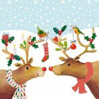 Rentier Mistelzweig Weihnachten 33cm x X 20 X 3 Ply Papier Napkins