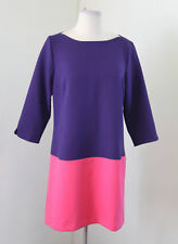 NWT New Ann Taylor Loft Purple Pink Color Block Shift Dress Size 6 Career