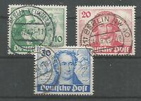 1949 GERMANY BERLIN GOETHE COMPLETE SET  MICHEL: 61/63  USED 180 € / 225 $