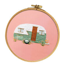 Embroidery Kits with Pattern Embroidery Hoop 15cm Cross Stitch Crafts - Bus