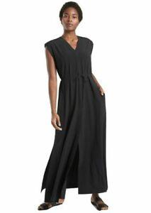 Women's Medium Tall Athleta Mara Maxi Black Lightweight Dress