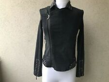 MAX JEANS STUDDED JEANS BOMBER JEAN JACKET SIZE XS