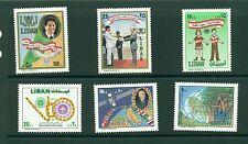 Lebanon VFMNH sets - 1988 complete CV $25.25
