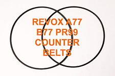 COURROIES COMPTEUR REVOX A77 B77 PR99  MAGNETOPHONE A BANDE EXTRA FORT A 77 B77