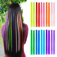 "10pcs 22""Hair Extensions Clip in Straight Fake Hair Pieces for Girls Young"
