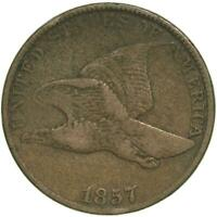 1857 Flying Eagle Cent Very Fine Penny VF