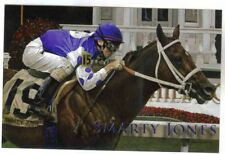 THOROUGHBRED HORSE RACING SMARTY JONES ROBERT CLARK POSTCARD '04 KY.DERBY WINNER