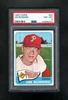 1965 TOPPS #20 JIM BUNNING HOF PHILADELPHIA PHILLIES PSA 8 NM/MT CENTERED!