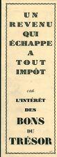 Publicité ancienne bons du trésor 1942