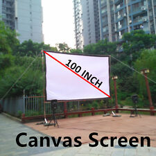 100 16 9 Projector Screen Canvas Ceiling Wall Mount for Home Projection Screen