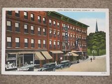 Hotel Berwick, Rutland, Vermont, used vintage card