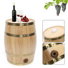 10L Vertical Pine Wooden Barrel Wine Whiskey Storage Wooden Kegs Only for Liquid