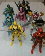 Power Rangers Mystic Force 7 figures including Knight Wolf + White Knight Wolf