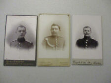 Cabinet Card Military War Lot Antique German World War 1 WWI Uniform