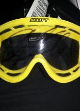 Scott Adult Goggles YELLOW & Black MX ATV MotorCross Ricky Carmichael Autograph