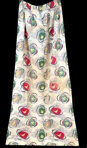 Vintage Atomic Print Barkcloth Curtain 1 Panel Single AS-IS 24x82 Fabric Crafts