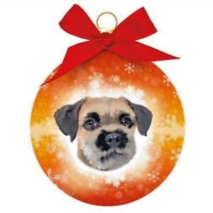 Border Terrier Christmas Tree Bauble Decoration Memorial Dog Lovers Gift Boxed