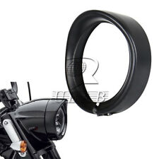 "7"" inch Black metal Headlight Bezel Trim Ring Protect Guard Cover Cap for Harley"