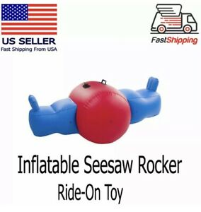 GIANT Inflatable Seesaw Rocker for Two Kids Heavy-Duty Vinyl Handles See Saw
