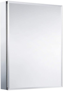 "Movo Medicine Cabinet with Mirror, 30"" x 24"" x 5""  Aluminum Mirror Cabinet"