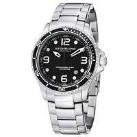Stuhrling Grand Regatta Men's 45mm Silver Steel Bracelet & Case Watch 593.332D11