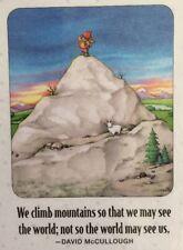 Mary Engelbreit Artwork-We Climb Mountains-Handmade Magnets