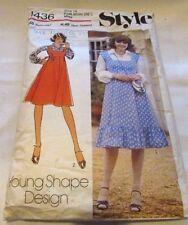 Vintage Original 70's Ladies Dresses Style Sewing Pattern Size 14 Cut