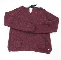 Maison Scotch Damen Pullover Gr.4 (L) rot meliert Carmen Strick -RP560