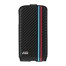 BMW M Collection FLIP COVER PER SAMSUNG GALAXY s4 Carbon nero flap case NUOVO
