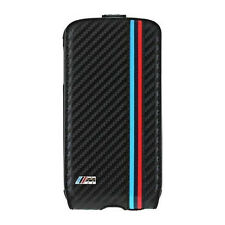 Bmw M Collection flip cover para Samsung Galaxy s4 carbon negro flap case nuevo