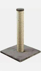 """Cat Scratching Post, Play stand kitten, Sisal Pole & Carpet Stable Base Grey 16"""""""