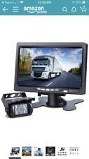 DVKNM TZ101 Upgrade Backup Camera Monitor Kit,Waterproof Rear View Truck/RV NEW