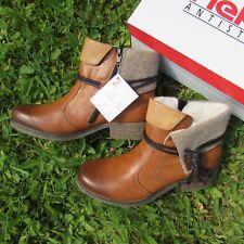Rieker Sandy  Stiefelette Stiefel Boots Cognac Braun Futter Gr. 39