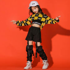 Girls Hip-hop Costume Street Dance Kids Jazz Dance Clothes Performance Outfits