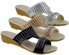 Wedge Synthetic Leather Sandals Evening for Women