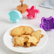 4pcs Cool Marine Animals Shape Plunger Cookie Cutters Cake Decor  Biscuit Moulds