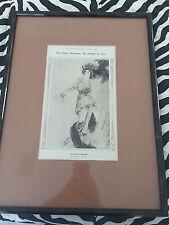 VINTAGE Louis Icart Framed Unsigned Lithograph Print 1913