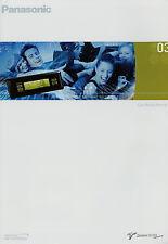 Prospekt Panasonic car media 2003 audio amplifier receiver DVD, navegación de vídeo