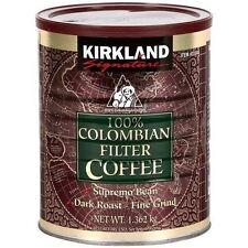 Kirkland 100% Colombian Filter Coffee Supremo Bean Dark Roast Fine Grind 1.362KG