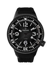 POSEIDON Unisex-Armbanduhr L Analog Silikonband UP00406 Schwarz UVP 139,- €