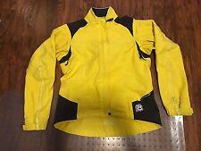 Women's Novara Cycling Wind Jacket Size Yellow/ black Size M MEDIUM