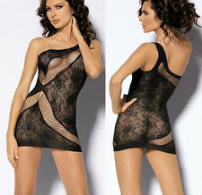 Sexy Fishnet Dress Crotchless Stocking Suspender Body stocking Lingerie N021